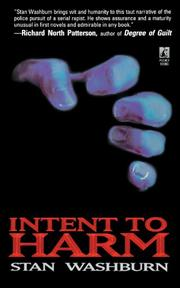 INTENT TO HARM by Stan Washburn