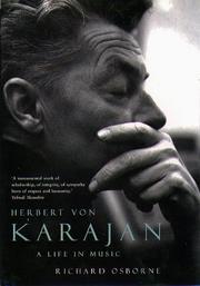 HERBERT VON KARAJAN by Richard Osborne