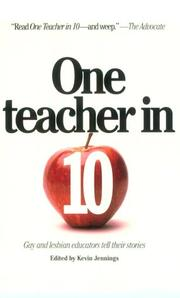 ONE TEACHER IN 10 by Kevin Jennings
