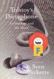 Book Cover for TOLSTOY'S DICTAPHONE