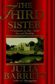 Cover art for THE THIRD SISTER