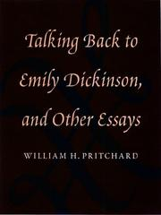 Book Cover for TALKING BACK TO EMILY DICKINSON