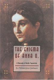 THE ENIGMA OF ANNA O. by Melinda Given Guttmann