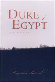 DUKE OF EGYPT by Margriet de Moor