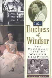 THE DUCHESS OF WINDSOR by Greg King