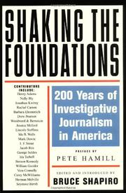 Cover art for SHAKING THE FOUNDATIONS