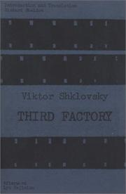 THIRD FACTORY by Viktor Shklovsky