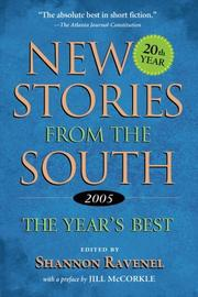 NEW STORIES FROM THE SOUTH by Shannon Ravenel