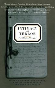 INTIMACY AND TERROR by Véronique Garros