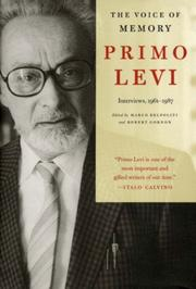 THE VOICE OF MEMORY by Primo Levi