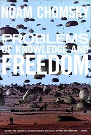 PROBLEMS OF KNOWLEDGE AND FREEDOM by Noam Chomsky