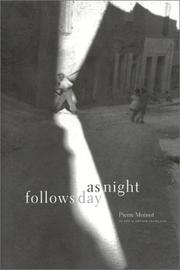 AS NIGHT FOLLOWS DAY by Pierre Moinot