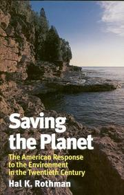 SAVING THE PLANET by Hal K. Rothman