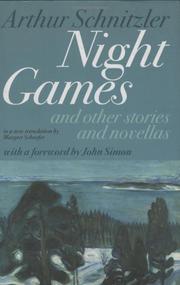 NIGHT GAMES by Arthur Schnitzler