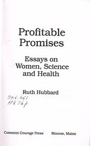 PROFITABLE PROMISES by Ruth Hubbard
