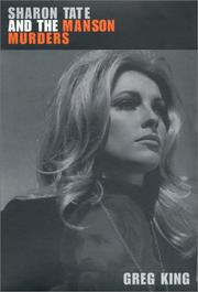 Cover art for SHARON TATE AND THE MANSON MURDERS