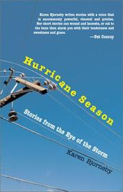 Cover art for HURRICANE SEASON