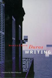 WRITING by Marguerite Duras