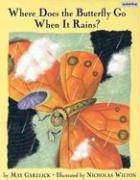 WHERE DOES THE BUTTERFLY GO WHEN IT RAINS by May Garelick