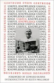 Book Cover for USEFUL KNOWLEDGE