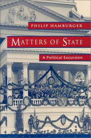 MATTERS OF STATE by Philip Hamburger