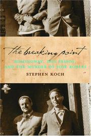 THE BREAKING POINT by Stephen Koch