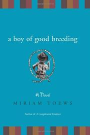 Cover art for A BOY OF GOOD BREEDING