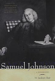 SAMUEL JOHNSON by W. Jackson Bate