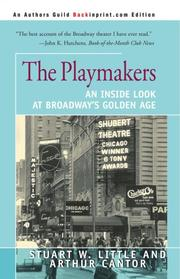 THE PLAYMAKERS by Stuart W. & Arthur Cantor Little