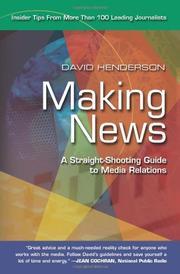 MAKING NEWS by David Henderson