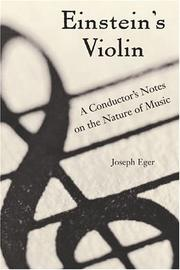 EINSTEIN'S VIOLIN by Joseph Eger