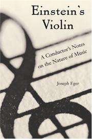 EINSTEIN'S VIOLIN by Joseph Eger
