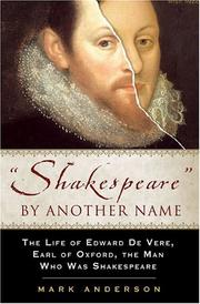 """""""SHAKESPEARE"""" BY ANOTHER NAME by Mark Anderson"""