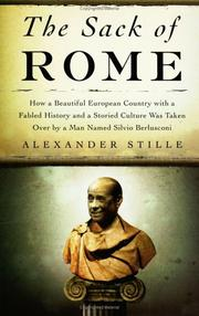 THE SACK OF ROME by Alexander Stille