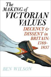 Cover art for THE MAKING OF VICTORIAN VALUES