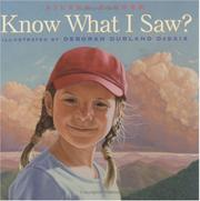 Cover art for KNOW WHAT I SAW?