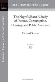 THE NEGRO'S SHARE by Richard & others Sterner