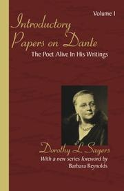INTRODUCTORY PAPERS ON DANTE by Dorothy L. Sayers