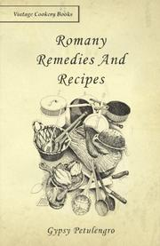 ROMANY REMEDIES AND RECIPES by Gipsy Petulengro