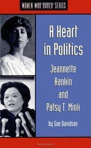 A HEART IN POLITICS by Sue Davidson