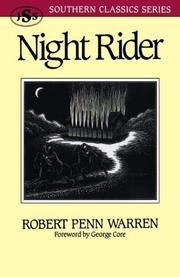 NIGHT RIDER by Robert Penn Warren