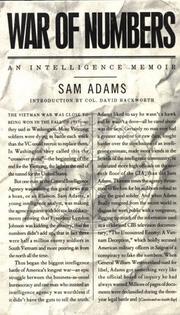 WAR OF NUMBERS by Sam Adams