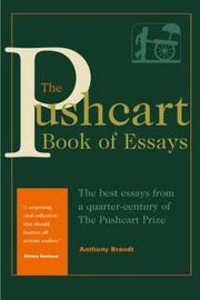 THE PUSHCART BOOK OF ESSAYS by Anthony Brandt