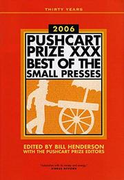 Cover art for THE PUSHCART PRIZE XXX