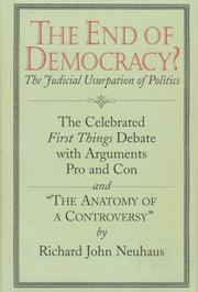 THE END OF DEMOCRACY? by Mitchell S. Muncy