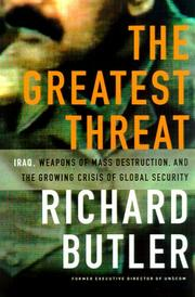 THE GREATEST THREAT by Richard Butler