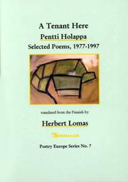 A TENANT HERE by Pentti Holappa