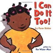 Book Cover for I CAN DO IT TOO!