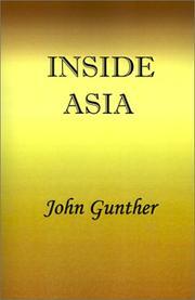 INSIDE ASIA by John Gunther