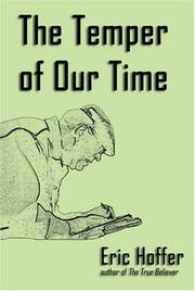 THE TEMPER OF OUR TIME by Eric Hoffer